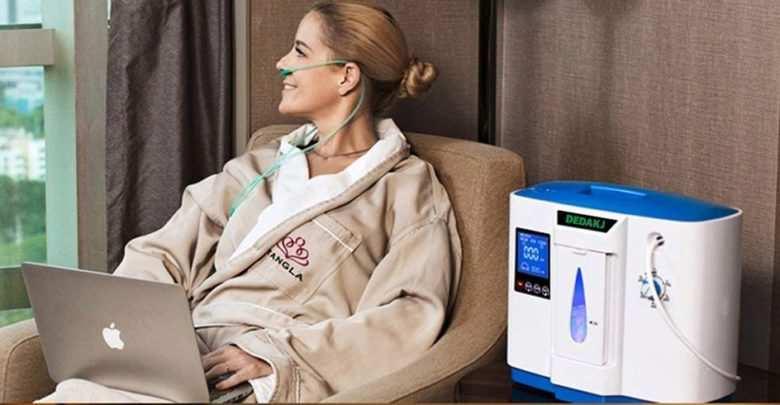 Concentratore di ossigeno portatile per casa e viaggio